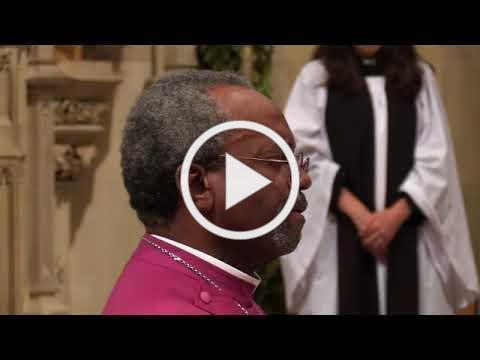Presiding Bishop Michael Curry at Canterbury Cathedral Evensong