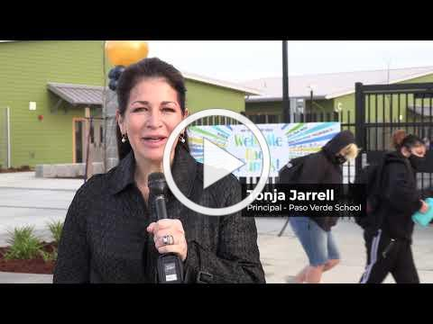 Paso Verde School Opening Day on Permanent Campus