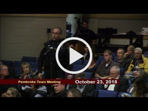 PCN PACTV Government Update Pembroke Town Meeting
