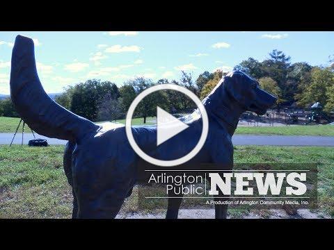APN   Robbins Farm Park Dog Statue Returns